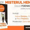 Misterul Henri Pick, de David Foenkinos se lansează luni, 25 martie
