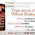 Viața secretă a lui William Shakespeare, un roman de Jude Morgan, se lansează de Ziua Cărții