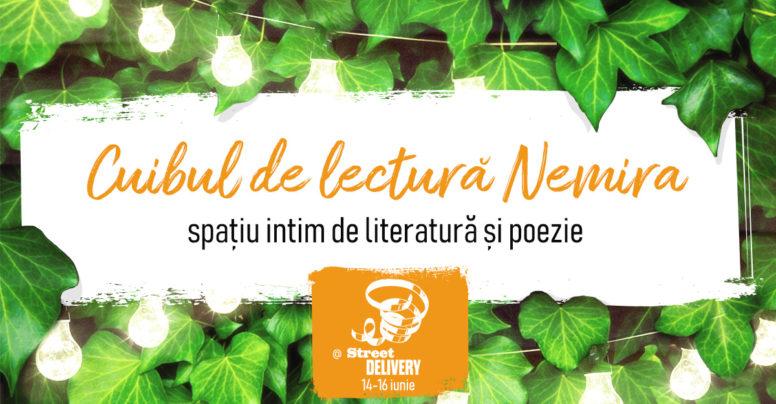Cuib de lectură Nemira și lecturi Vorpal la Street Delivery 2019