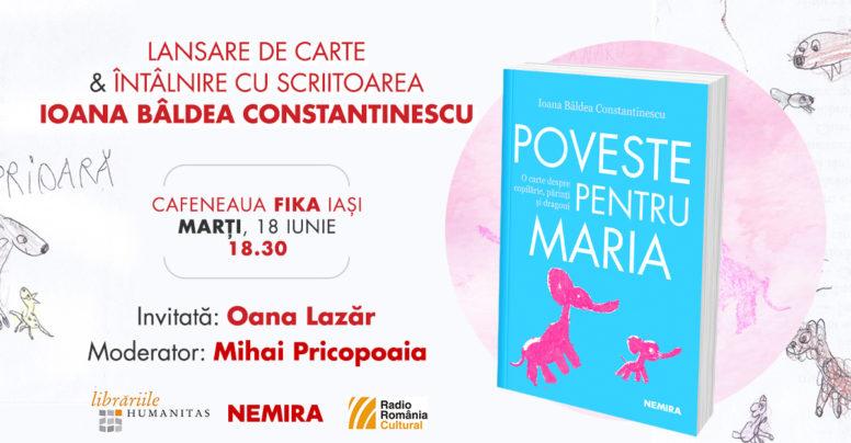 """Jurnalista Ioana Bâldea Constantinescu în turneu de lansare a cărții """"Poveste pentru Maria"""""""