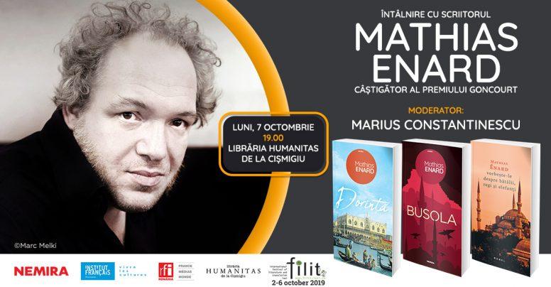 Scriitorul Mathias Enard în România – evenimente la Iași și la București