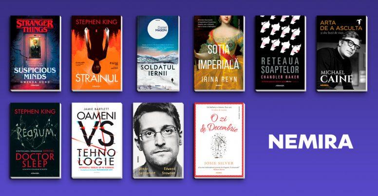 Cele mai căutate cărți ale grupului editorial Nemira la Gaudeamus 2019