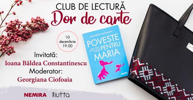 Dor de carte – un club de lectură marca Iutta și Nemira
