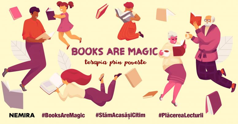 Lansăm campania Books are magic – Terapia prin poveste