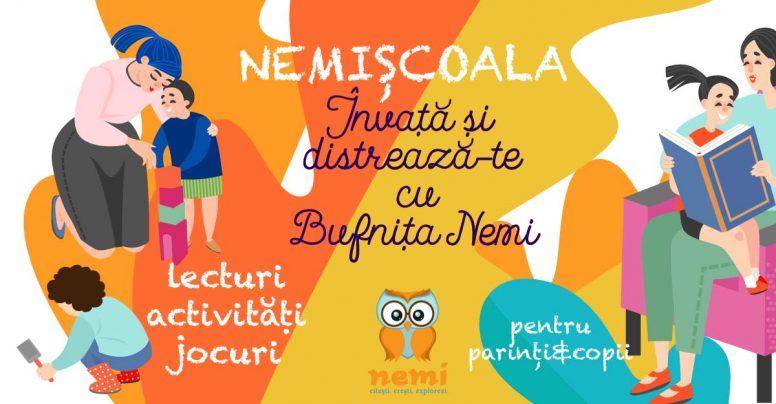 Start #NemiȘcoala – învață și distrează-te cu Bufnița Nemi!