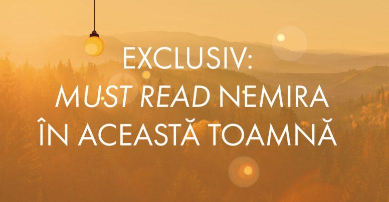 Toamna noutăților Nemira: must read & coming soon